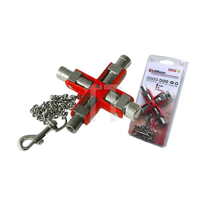 Schaltschrank-Schlüssel SuBMaster 9in1