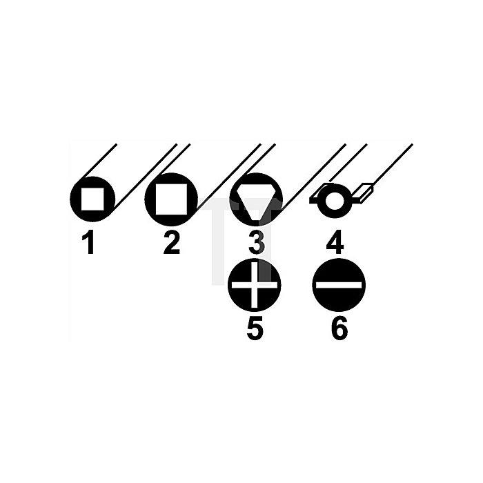 Schaltschrankschlüssel Innen-4KT 6-8mm Innen-3KT 9mm Schlitz/PH