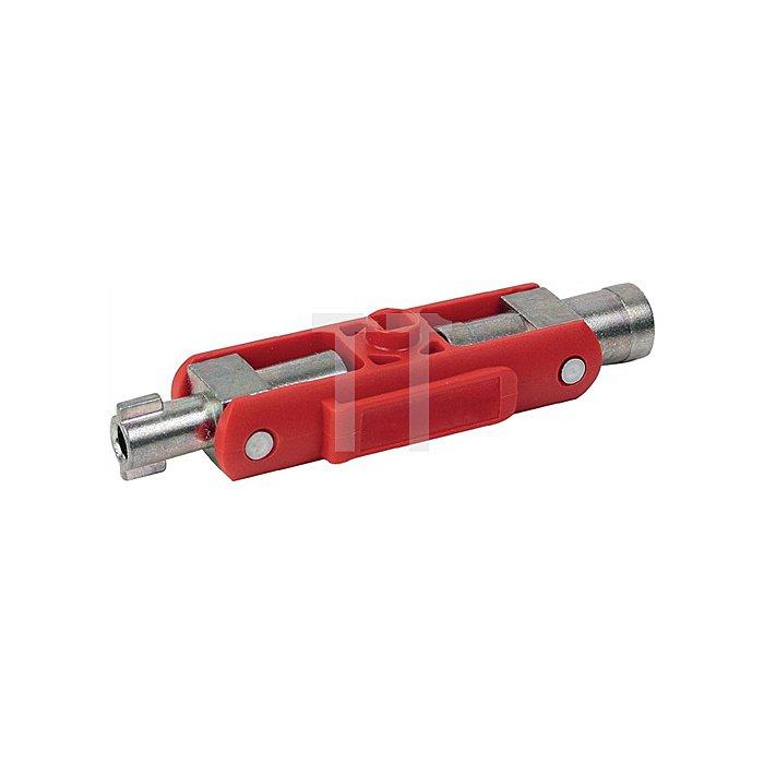 Schaltschrankschlüssel Vierkant 5,6,7-8mm Dreikant 9mm Buntb. 3-5mm magn.Bithalt