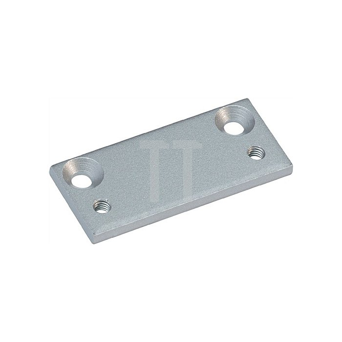 Scharnierplatte silber