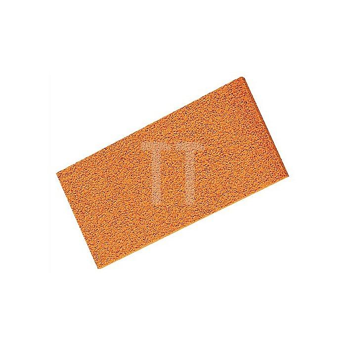 Schaumgummiauflage rot 280x140x20mm f.Reibebrett