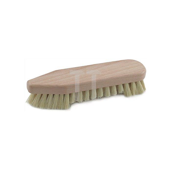 Scheuerbürste Holz spitz/runde Form mit Bart Naturfibre