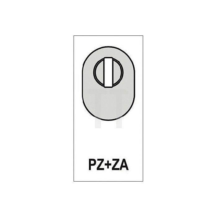 Schieberosette f. Rahmentüren PZ ZA H. 74mm B. 33mm Stärke 15mm VA fein matt
