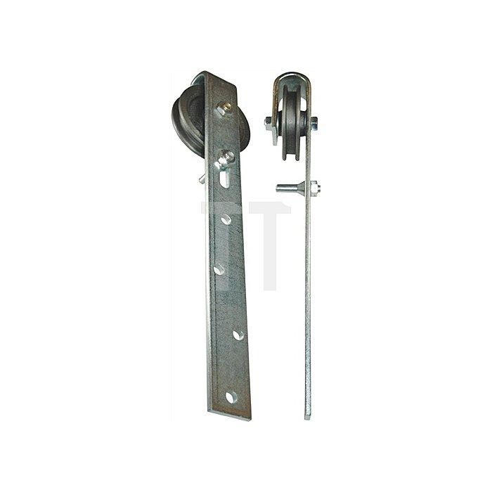 Schiebetorrolle 501 D.90mm Torgewicht max 100kg Bügel a.Flachstahl verz.