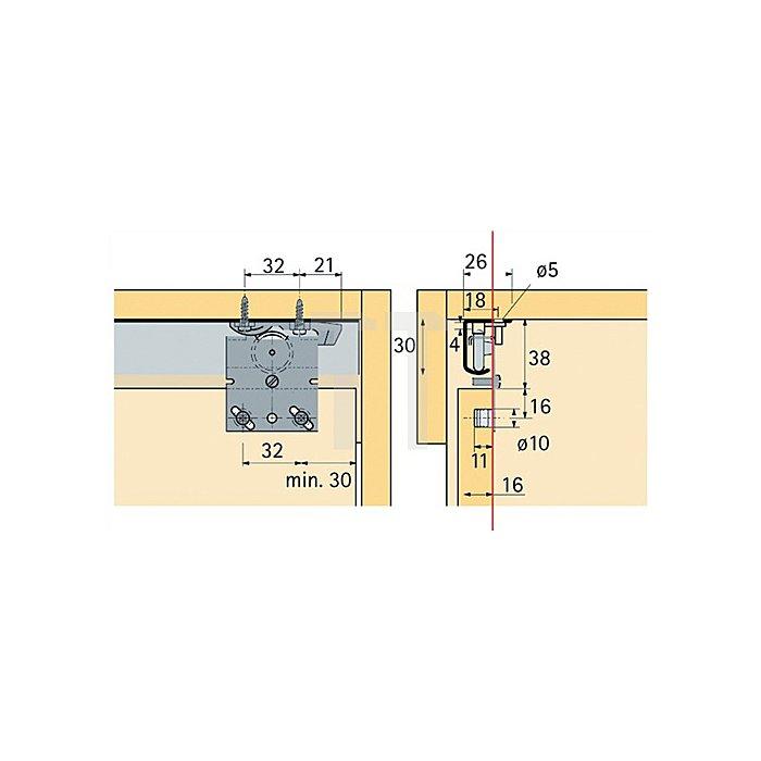 Schiebetürbeschlag Top Line 27 / 026083 3-türig Türbreite ab 500mm