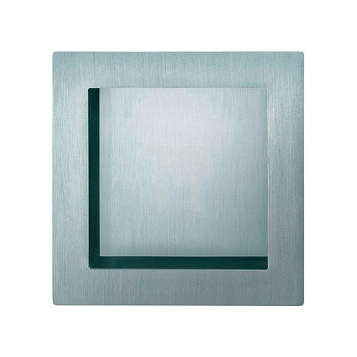 Schiebetürmuschel 4253 blind Aluminium F1