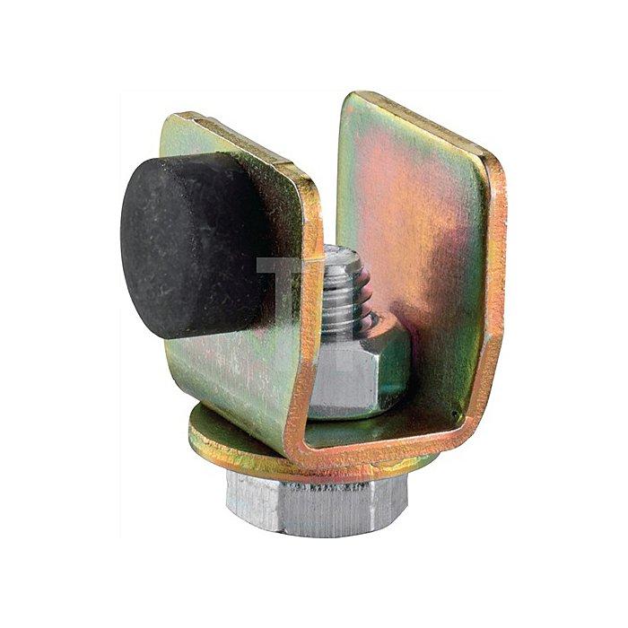 Schienenstopper 100 P f.Profil 100 galvanisch verzinkt Laufwegbegrenzung
