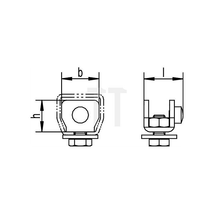 Schienenstopper 400 P f.Profil 400 galvanisch verzinkt Laufwegbegrenzung