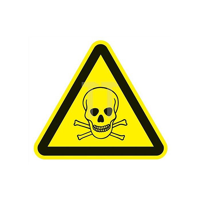 Schild f.giftige Stoffe 200x200mm 3-eckig Kunststoff gelb/schwarz