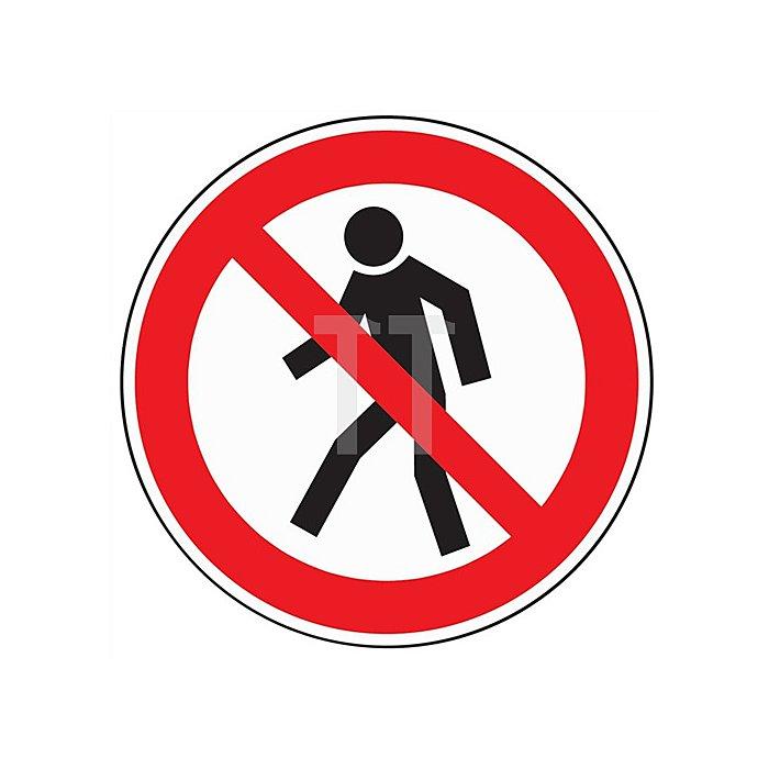 Schild Fußgänger verboten D.200mm Kunststoff rot/schwarz
