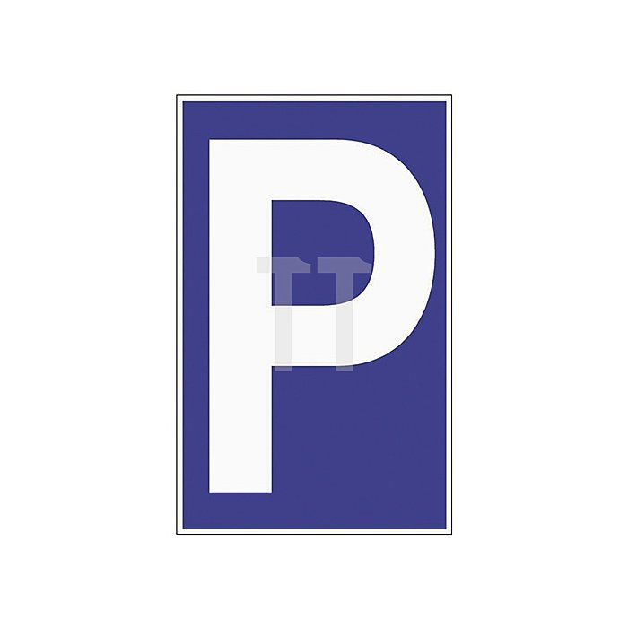 Schild Parkplatz B.250xH.400mm Kunststoff blau/weiss