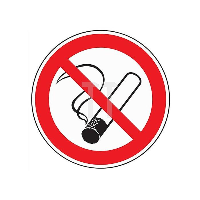 Schild Rauchen verboten D.200mm Kunststoff rot/schwarz