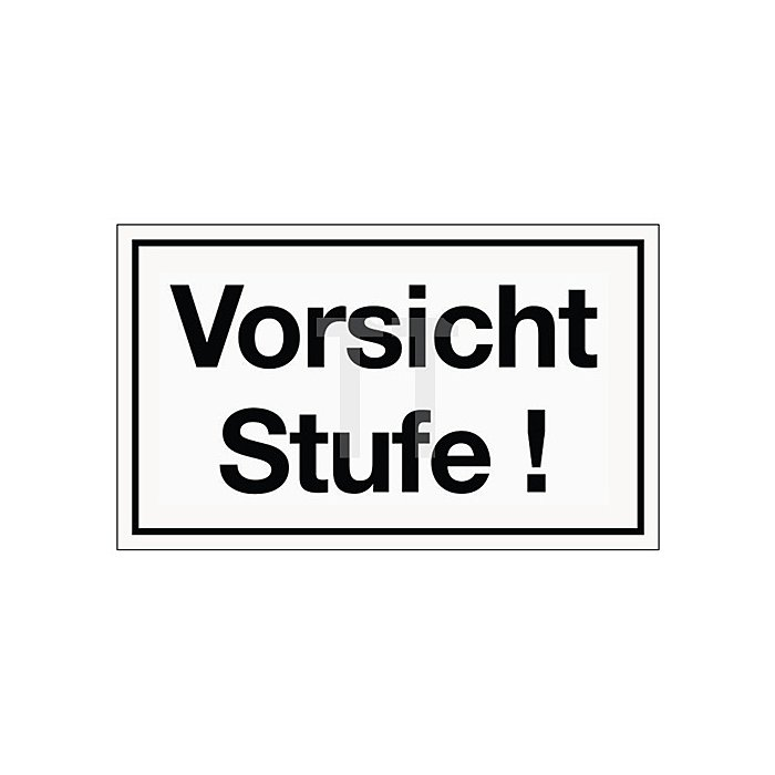 Schild Vorsicht Stufe B.250xH.150mm Kunststoff weiss/schwarz
