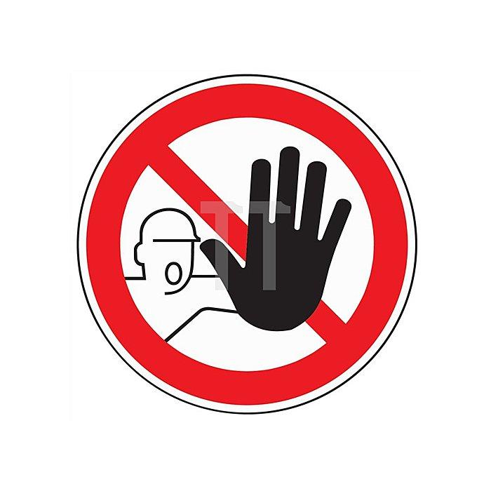 Schild Zutritt für Unbefugte verboten D.200mm Kunststoff rot/schwarz