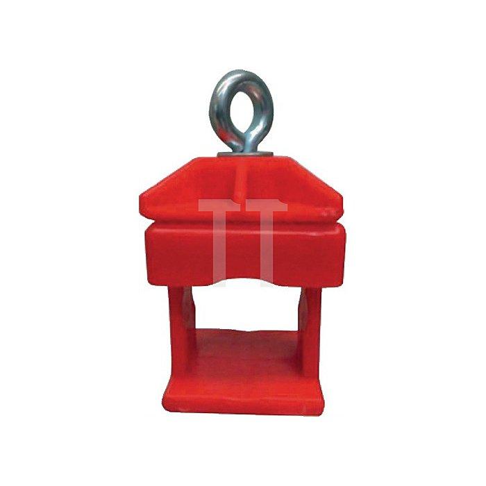Schilderklemme, Kunststoff rot, für Rundrohr 42mm und Vierkantrohr 40 x 40mm