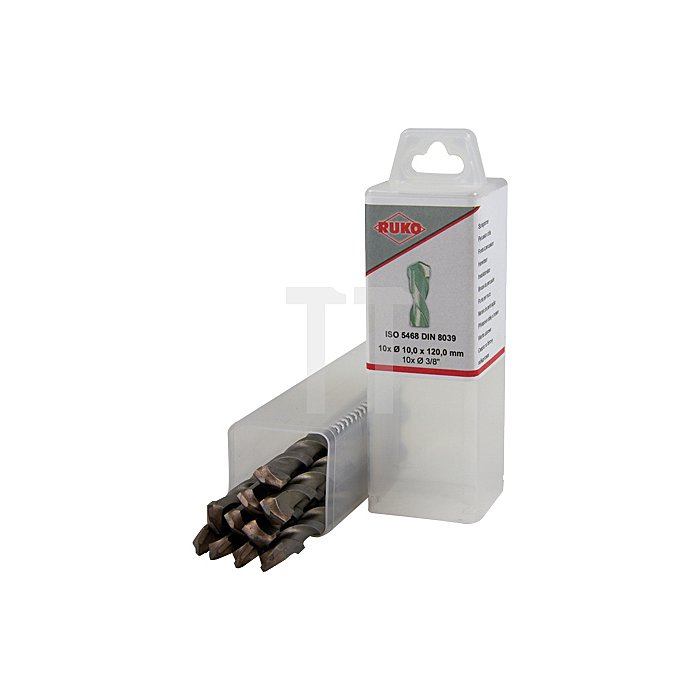 Schlagbohrer mit Hartmetallspitze und Zylinderschaft ISO 5468 - DIN 8039