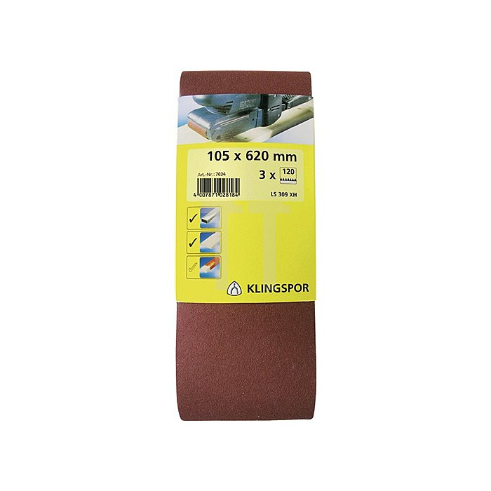 Schleifband LS 309 XH B.75xL.533mm K.120 endlos
