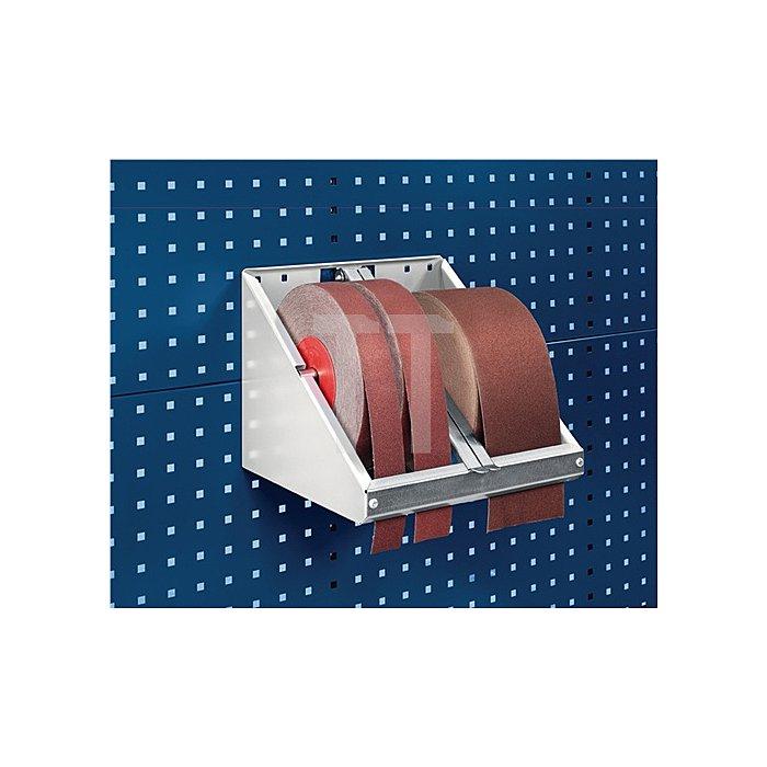 Schleifpapierrollenhalter f.Rollenbreite max.120mm für Lochplatten Bott