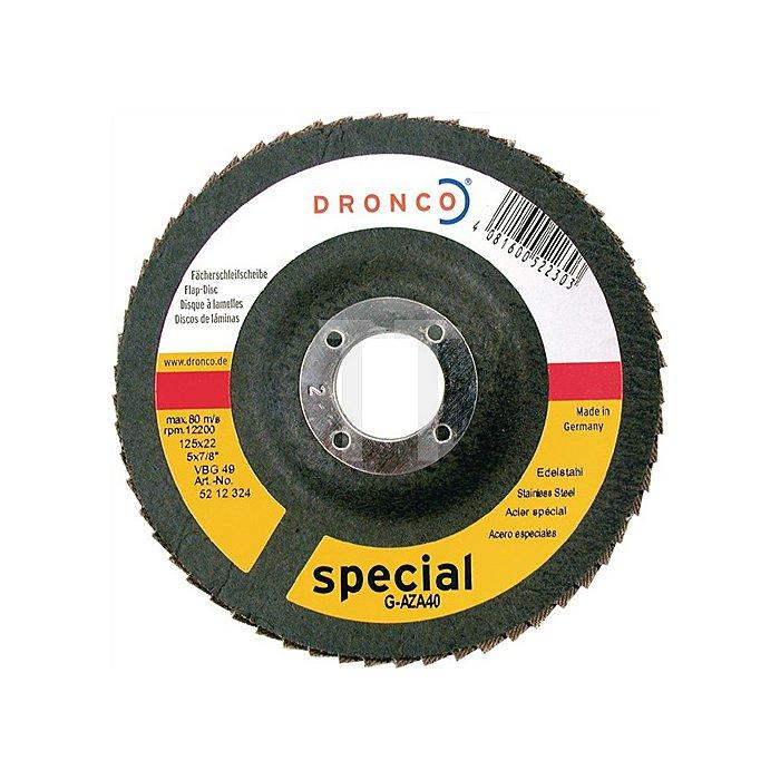 Schleifscheibe G-AZA 60 BOMB 125x22mm SPECIAL