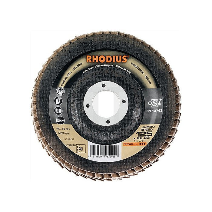 Schleifscheibe Jumbo Speed 125x22,23mm K60 Edelstahl Topline