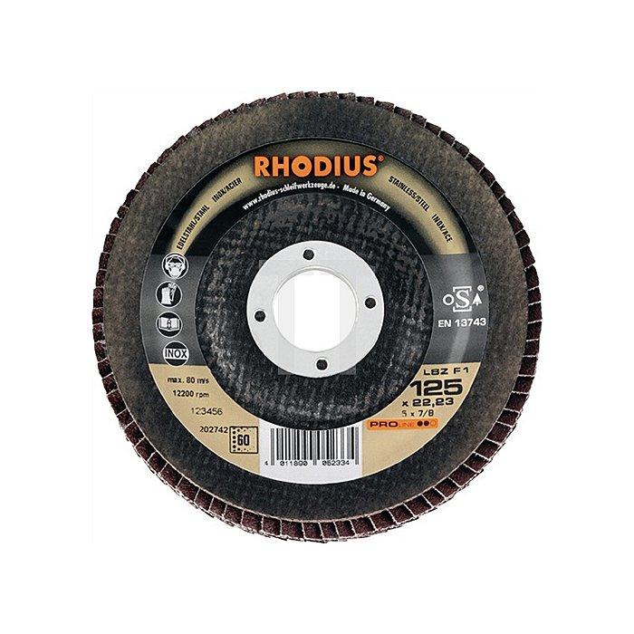 Schleifscheibe LSZ F1 125x22,23mm K120 Edelstahl Proline