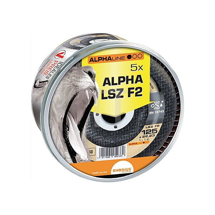 Schleifscheibe LSZ F2 Box 125x22,23mm K80 Edelstahl Alphaline