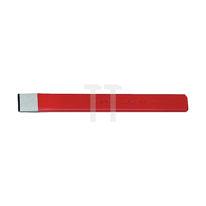 Schlitz- oder Karosseriemeißel rot lackiert poliert 230mm