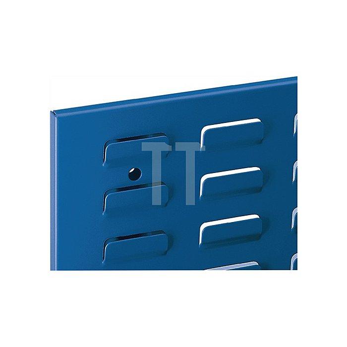 Schlitzplatte Breitformat H450xB500mm enzianblau RAL 5010