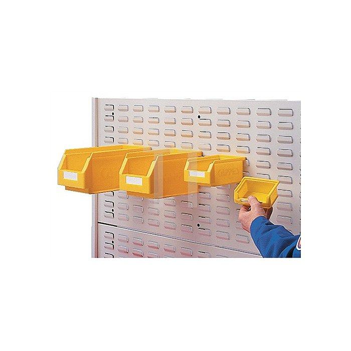 Schlitzplatte Breitformat H450xB500mm lichtgrau RAL 7035