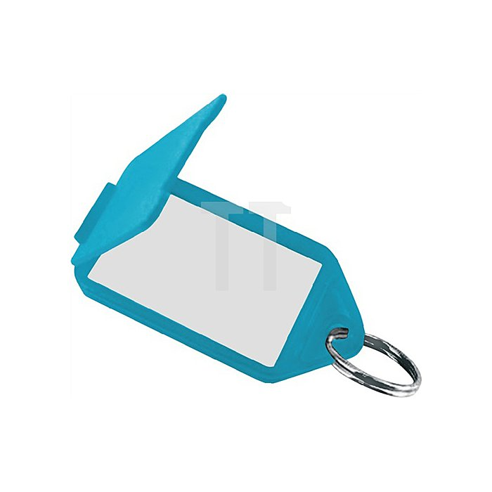 Schlüsselanhänger 8160 FS/50 blau aufklappbar 56 x 30 mm blau