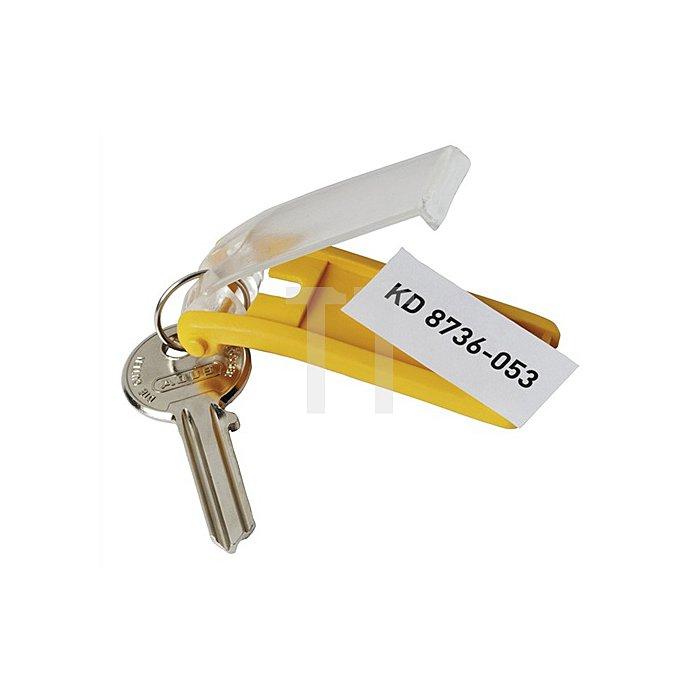 Schlüsselanhänger Key-Clip gelb Beutel a 6 Stück