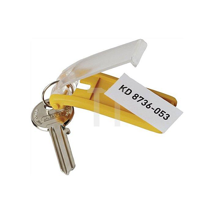 Schlüsselanhänger Key-Clip mit sichtbarem Beschriftungsschild passend für Key Bo