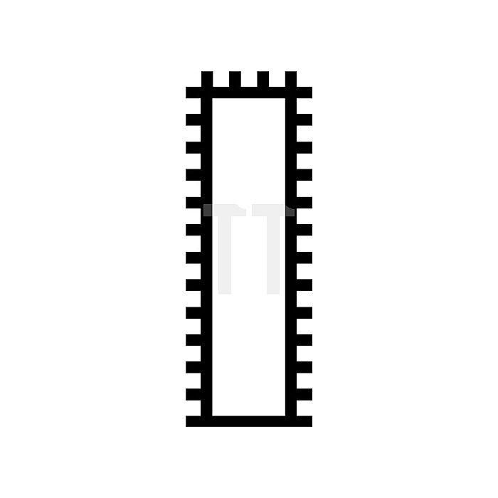 Schlüsselfeile L.100mm Hieb 2 flachstumpf DIN7283 o.Heft