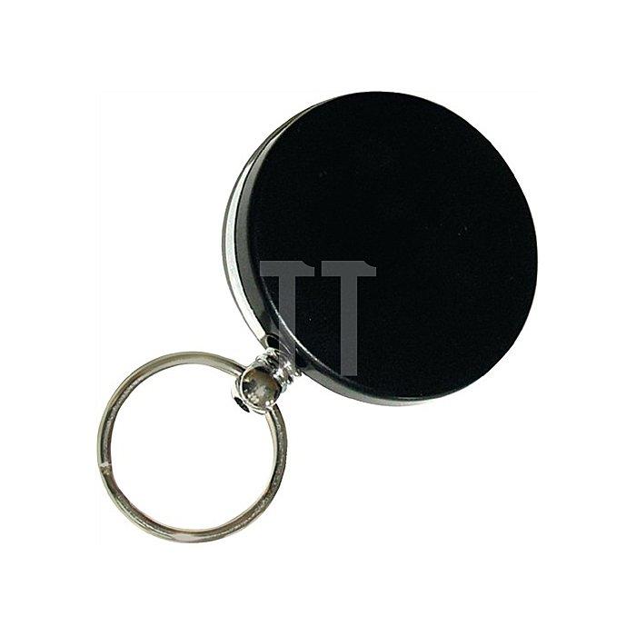 Schlüsselflip 8054/40/65 Durchmesser 40mm schwarz mit Nylonseil 65cm