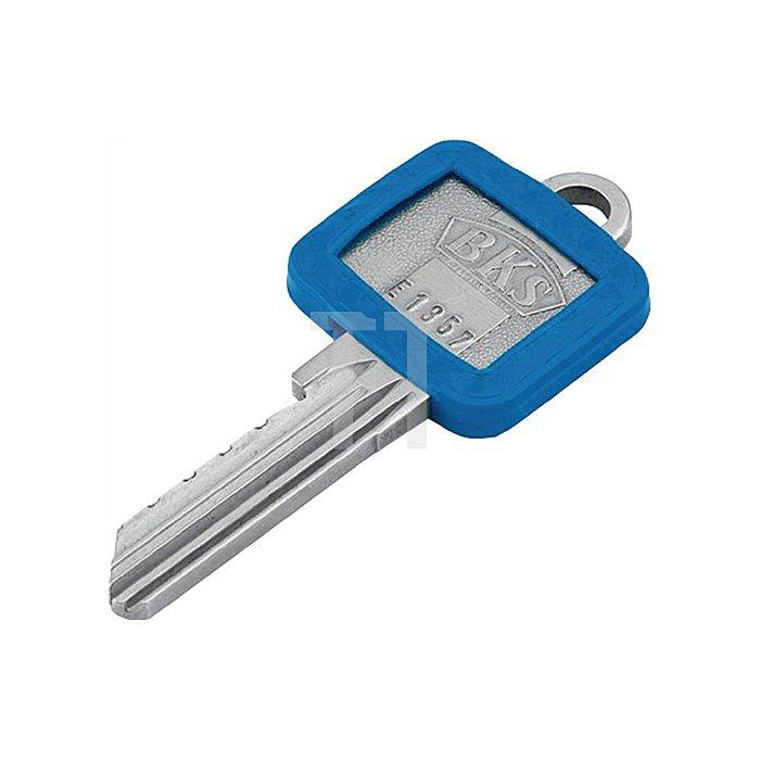 Schlüsselkennring 8004 E FS blau eckig für BKS blau
