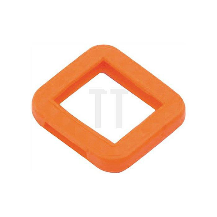 Schlüsselkennring 8004 E STV/200/N eckig für BKS neon farbig sortiert