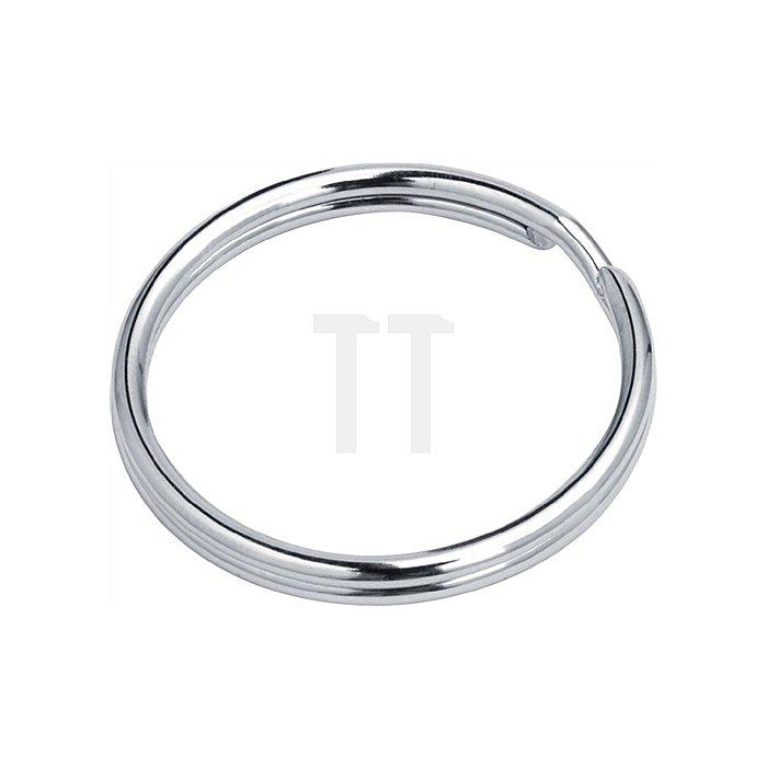 Schlüsselring Innendurchmesser 12,6mm Außendurchmesser 16mm vernickelt