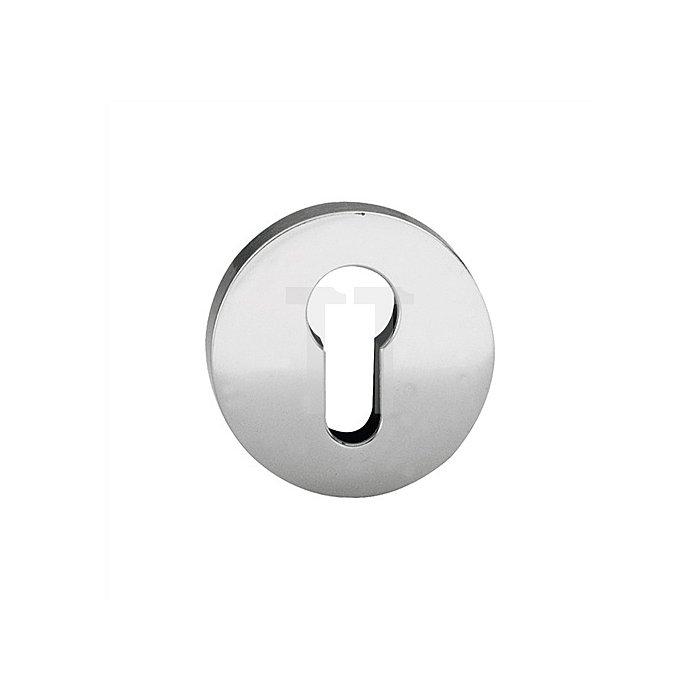 Schlüsselrosette 1735 PZ D. 55mm VA matt ER 6204 flache Ausführung