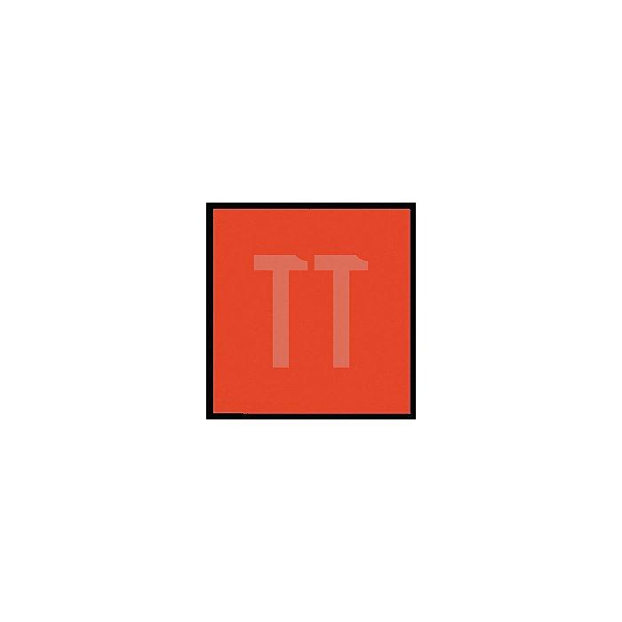 Schlussfahne rot, 30 x 30cm, mit Aufhängeösen, unbedruckt, PF-Folie
