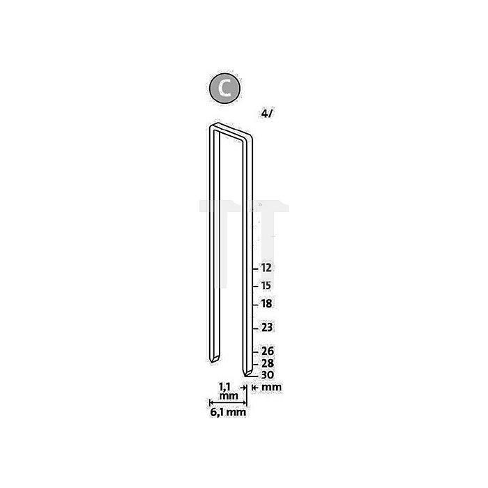Schmalrückenklammer Typ 4 L.18 x B.6mm verz. Novus