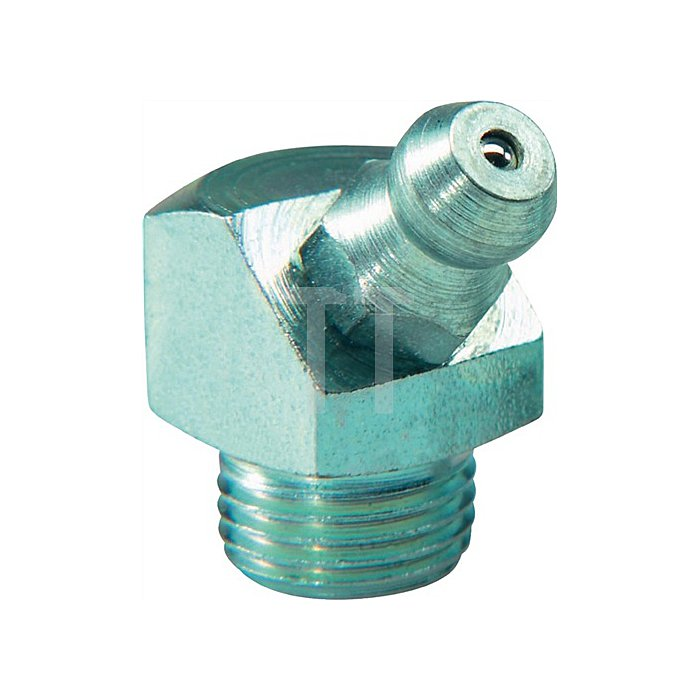 Schmiernippel H2 M10x1 45 Grad 4-kant DIN 71412 a.100St.