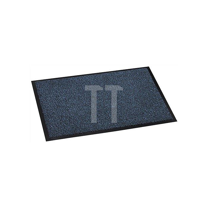 Schmutzfangmatte blau B.450xL.600mm Vinyl-Beschichtung