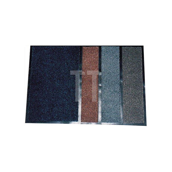 Schmutzfangmatte graublau B.400xL.600mm PVC-Rücken rutschfest
