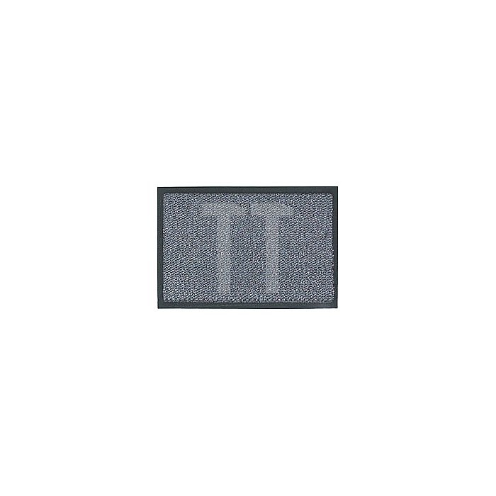 Schmutzfangmatte graublau B.600xL.900mm PVC-Rücken rutschfest