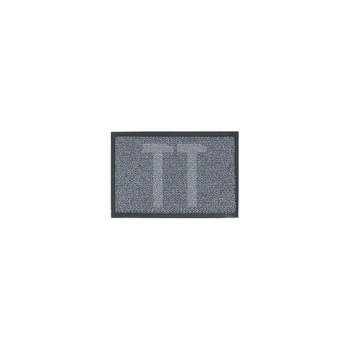 Schmutzfangmatte graublau B.900xL.1500mm PVC-Rücken rutschfest