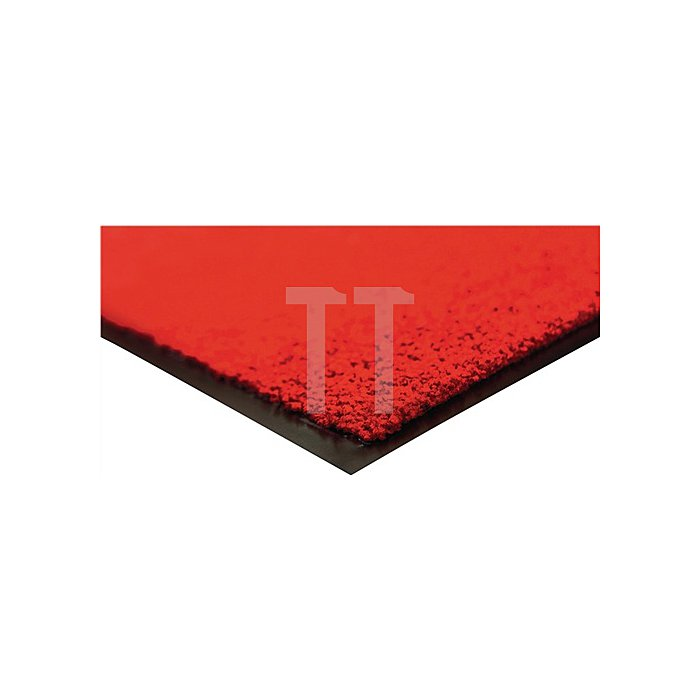 Schmutzfangmatte rot B.600xL.900mm Velours waschbar