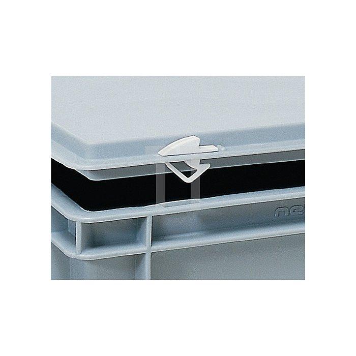 Schnappverschluss weiss für Kunststoffbehälter/-koffer Beutel a 10 Stück