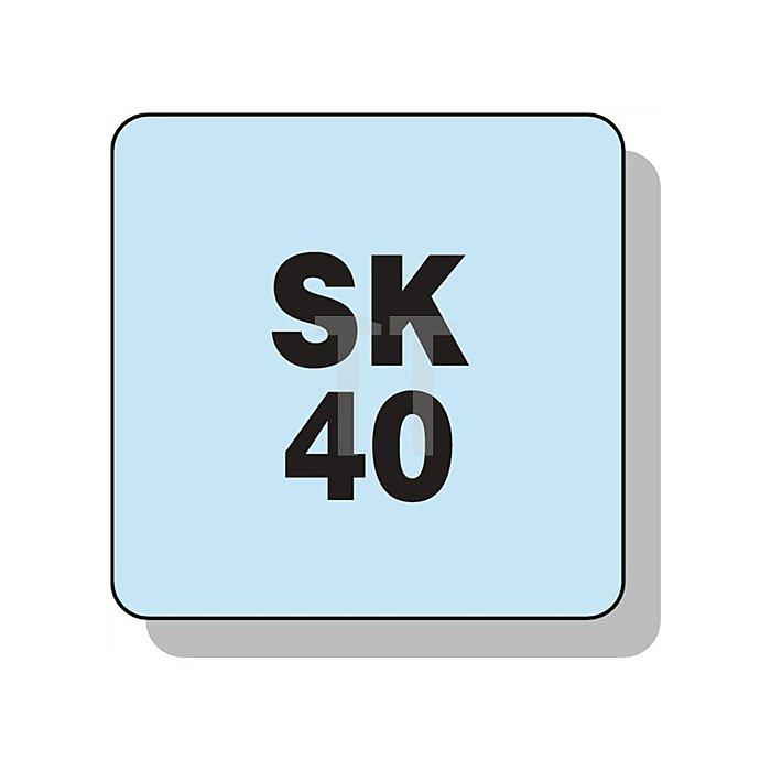 Schnellspannbohrfutter Spann-D.0,5-13mm NC DIN69871-A SK40 f.Rechts-/Linkslauf