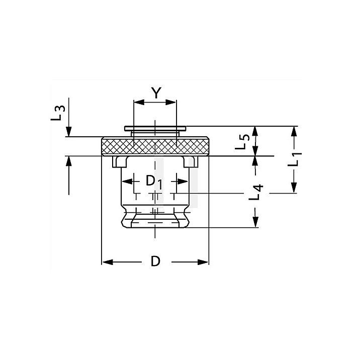Schnellwechsel-Einsatz SE Gr.1 o.Sicherheitskupplung f.D.3,5x2,7mm