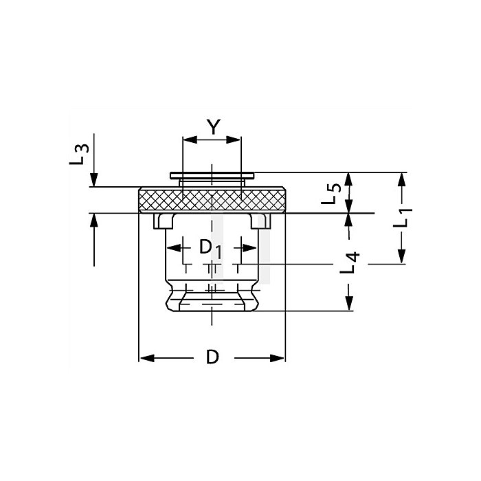 Schnellwechsel-Einsatz SE Gr.3 o.Sicherheitskupplung f.D.12x9mm